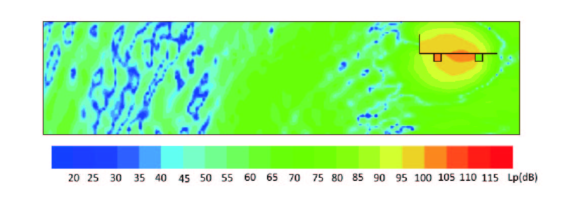 高架道路から発生する低周波音予測イメージ